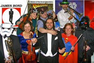 Showtime! Bjorn Bantock and SASO players prepare for a musical night at the movies